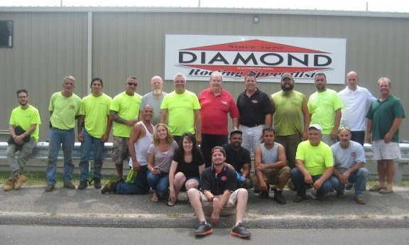 Diamond Roofing team